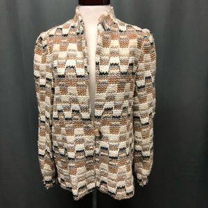 Vintage printed mohair mixed blazer/ jacket
